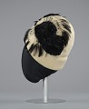 View Cream cloche hat with black feathers from Mae's Millinery Shop digital asset number 2