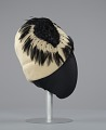 View Cream cloche hat with black feathers from Mae's Millinery Shop digital asset number 4