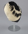 View Cream cloche hat with black feathers from Mae's Millinery Shop digital asset number 5