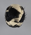 View Cream cloche hat with black feathers from Mae's Millinery Shop digital asset number 6