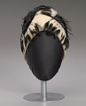 View Cream cloche hat with black feathers from Mae's Millinery Shop digital asset number 7