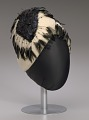 View Cream cloche hat with black feathers from Mae's Millinery Shop digital asset number 8