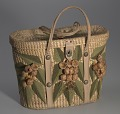 View Woven basket purse with floral design from Mae's Millinery Shop digital asset number 1