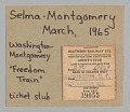 View Ticket stub for Washington, DC to Montgomery, AL for Selma-Montgomery March digital asset number 0