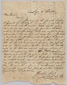 View Letter concerning procurement of whips, personal affects, and bolts of cloth digital asset number 0