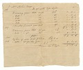 View Invoice for weaving and the hiring of an enslaved woman, Philice digital asset number 0