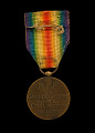View 1914 - 1918 Inter-Allied Victory medal issued to Cpl. Lawrence Leslie McVey digital asset number 1