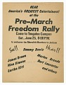 View Flier for a pre-march Freedom Rally for the Meredith Marchers digital asset number 0