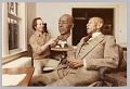 View Color photograph of Eubie Blake and artist Bob Walker during a modeling session digital asset number 0