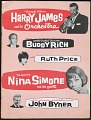 View Program for Harry James and Nina Simone with Buddy Rich, Ruth Price, John Byner digital asset number 0