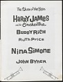 View Program for Harry James and Nina Simone with Buddy Rich, Ruth Price, John Byner digital asset number 2
