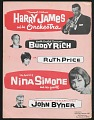View Program for Harry James and Nina Simone with Buddy Rich, Ruth Price, John Byner digital asset number 19
