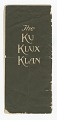 View Pamphlet for the Ku Klux Klan written by Colonel William Joseph Simmons digital asset number 3