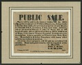 View Broadside for the sale of enslaved persons and other property of William Bland digital asset number 0