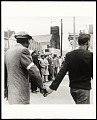 View <I>Bishop Jordan, AME Baptist Church, T. O. Jones, Head of Sanitation Workers, Walter Reuther, United Auto Workers, line up to lead protest march after death of Dr. Martin Luther King Jr., Memphis, TN, April 8, 1968</I> digital asset number 0