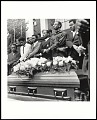 View <I>SCLC pallbearers stand over casket of Dr. Martin Luther King Jr., at Morehouse College on April 12, 1968, Atlanta, GA</I> digital asset number 0