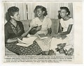 View Copy photo of Minnie Brown, Melba Pattillo, and Thelma Mothershed doing homework digital asset number 0