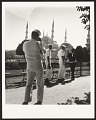 View <I>James Baldwin conversing with sailors from the U.S. Sixth Fleet in front of the Blue Mosque, Istanbul, 1965</I> digital asset number 0
