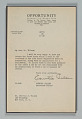 View Letter to Mr. Carroll Wilson from Countee Cullen digital asset number 1