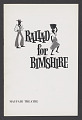 View Theatre program for Ballad for Bimshire digital asset number 0