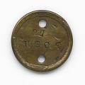 View Identification tag for Civil War soldier Qualls Tibbs digital asset number 0