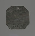 View Charleston slave badge from 1847 for Porter No. 365 digital asset number 0
