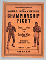 View Press kit for Sonny Liston versus Cassius Clay Championship Fight digital asset number 0