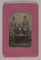 View Tintype photograph of a man identified as James Turner, with two women digital asset number 0