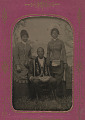 View Tintype photograph of a man identified as James Turner, with two women digital asset number 4