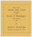 View Football program for Booker T. Washington High School digital asset number 0