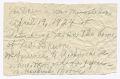 View Handwritten note from Magdalene Hendricks Boozé digital asset number 0