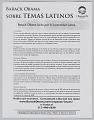 View <I>Barack Obama: Sobre Temas Latinos</I> digital asset number 0