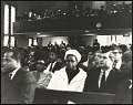 View <I>Mr Isaac Farris Sr., Dr. King's brother-in-law and Dr. Benjamin Elijah Mays, president of Morehouse College, seated in audience</I> digital asset number 0