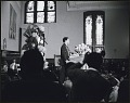 View <I>Andrew Young addressing he audience at the first birthday celebration in memory of Dr. Martin Luther King, Jr.</I> digital asset number 0