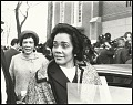 View <I>Coretta Scott King talking with the press after the first birthday celebration of Dr. Martin Luther King, Jr.</I> digital asset number 0