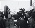 View <I>Coretta Scott King is being protected by police officers and civil rights workers as she leaves Ebenezer Baptist Church</I> digital asset number 0