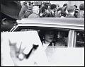 View <I>Coretta Scott King inside limosine leaving the first birthday celebration of Dr. Martin Luther King, Jr.</I> digital asset number 0