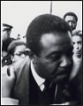 View <I>Dr. Ralph David Abernathy being kissed on the cheek by an admirer after the memorial service</I> digital asset number 0
