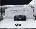 View <I>Wreath and eternal flame laid in front of Martin Luther King, Jr.'s tomb at Southview Cemetery</I> digital asset number 0