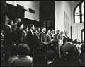 View <I>Rev. E.W. Lumpkin conducts the Interdenominational Theological Center male chorus</I> digital asset number 0