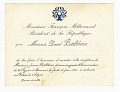 View Legion of Honour Reception Invitation to David Baldwin from François Mitterrand digital asset number 0