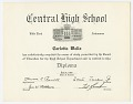 View Diploma for Carlotta Walls from Little Rock Central High School digital asset number 0