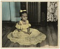 View A hand-tinted portrait of a girl in a yellow dress digital asset number 0