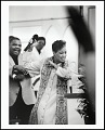 """View <I>Rev. Gina M. Stewart, pastor of Christ MBC, moves the congregation during her """"Resurrection Sunday"""" message, Memphis, Tennessee, 2005</I> digital asset number 0"""