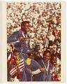 View Photograph of Carl Lewis with his fourth gold medal at the Los Angeles Olympics digital asset number 0
