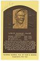 View Postcard of Satchel Paige Baseball Hall of Fame plaque digital asset number 0