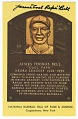 "View Postcard of James ""Cool Papa"" Bell Baseball Hall of Fame plaque digital asset number 0"