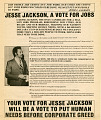 View Newspaper insert for Jesse Jackson 1984 presidential campaign digital asset number 2