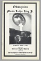 View Program from Martin Luther King, Jr.'s funeral at the Ebenezer Baptist Church digital asset number 0