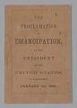View <I>The Proclamation of Emancipation by the President of the United States, to take effect January 1st, 1863</I> digital asset number 0